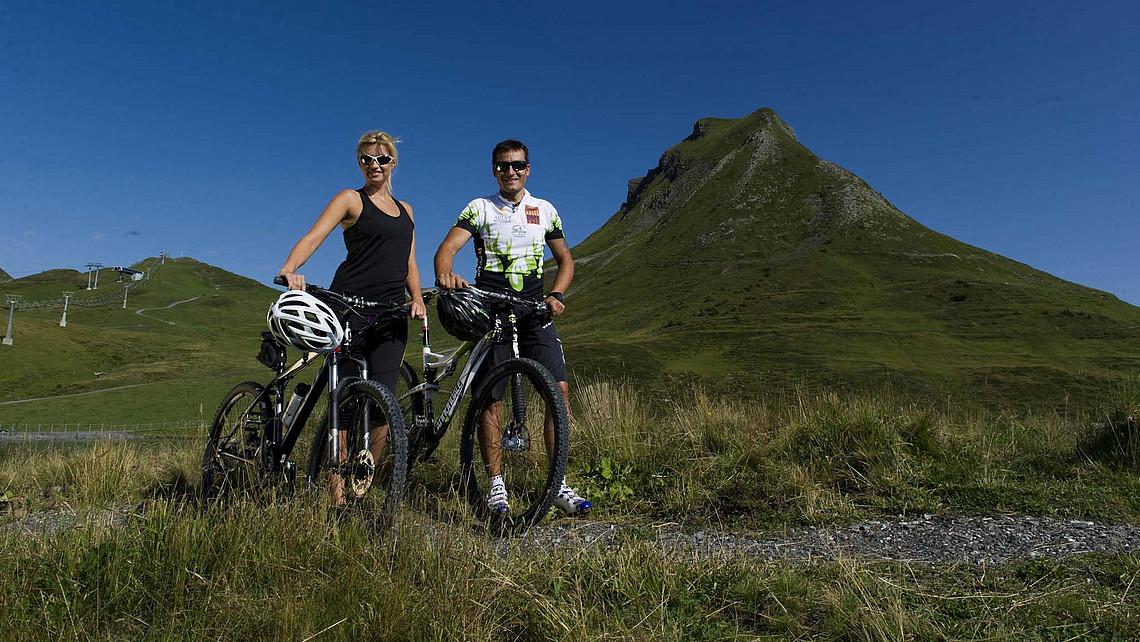 Mountainbike im Großen Walsertal